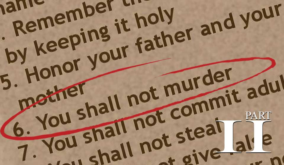 The Sixth Commandment